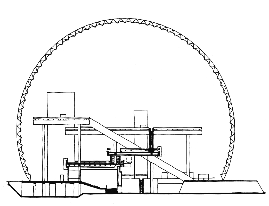 Aggregate Risk Design Escalator Schematic The Us Pavilion At Expo 67 In Montreal Which United States Information Agency Set Floor Decks Linked By Elevator And Within A